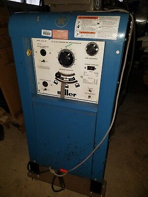Miller Ac Dc Gas Tungsten - Arc Welding Machine 320abp On Wheels