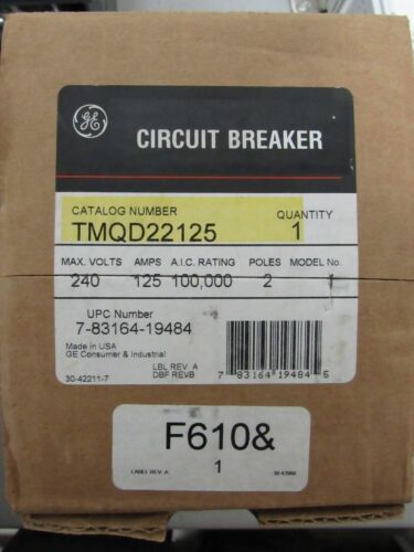 Ge Tmqd22125 125 Amp Circuit Breaker New In The Box With Warranty
