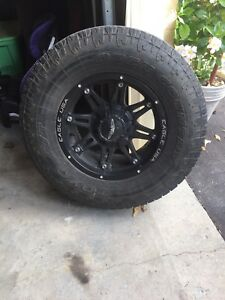 "17"" rims with 33"" toyo tires"