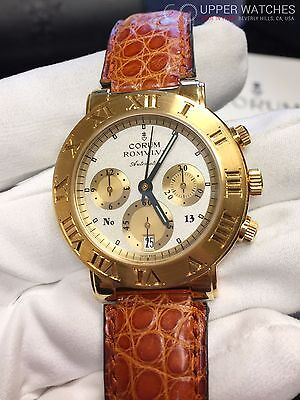 Corum Romulus Chronograph 18KT YG 296701 Limited Edition 100pz Box & Papers
