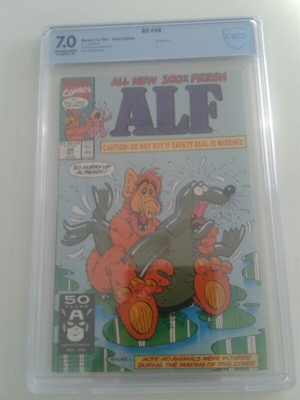 Alf #49 CBCS 7.0 Off-White/White Pages Controversial Cover Marvel 1991
