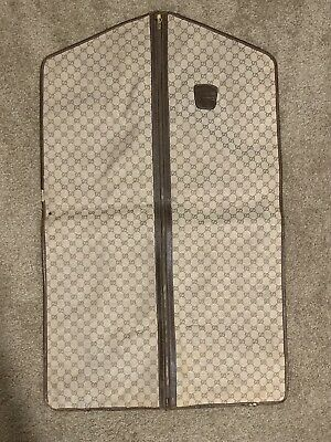 Vintage GUCCI Garment Bag Canvas GG