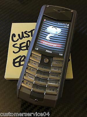 $4999.99 - Genuine Vertu Ascent X Full Titanium Black Leather Luxury Phone Extremely Rare