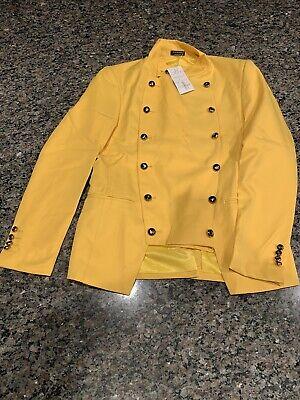 Yellow Chef Coatrestauranthall Uniform - Long Sleeve -small