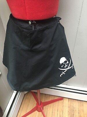 Cotton Gothic Black Halloween Skull and Sword Mini Skater Circle Skirt Size 6 - Skater Skirt Halloween