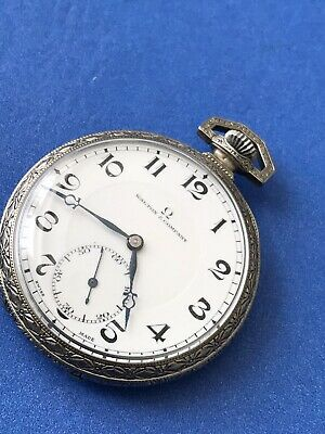Antique Walton & Company Silver Pocket Watch Wadsworth Omega Swiss 17 Jewels RUN