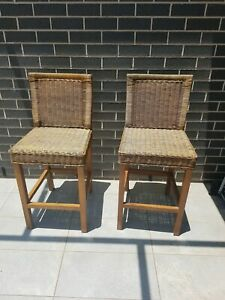 Wicker chairs x2