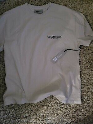 Fear Of God Essentials Graphic T-Shirt Beige Nordstrom Authentic Small *IN HAND*
