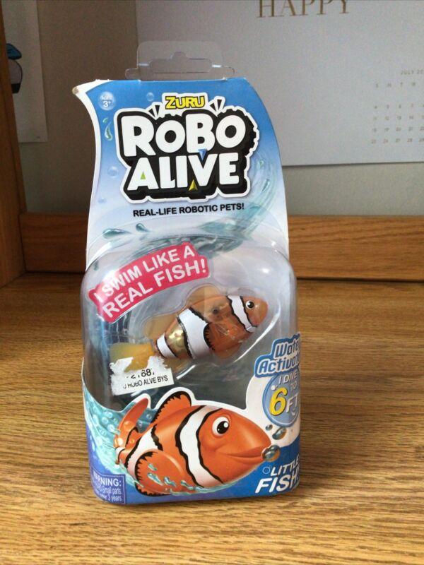 Zuru - Robo Alive Real-Life Robotic Pet Little Clownfish Fish Swimming Swims