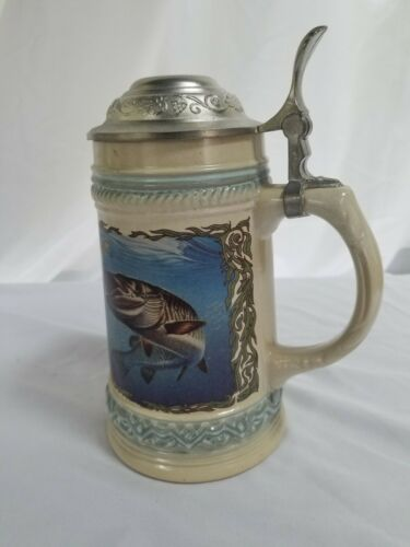 Gerz Germany Beer Stein - Fish Scene by Jon A. Wright