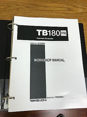 Takeuchi Tb180fr Hydraulic Excavator Workshop Service Repair Manual