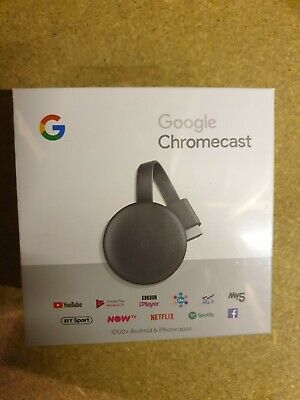 Google Chromecast 3rd Gneration Media Streamer - Black - NEW & SEALED