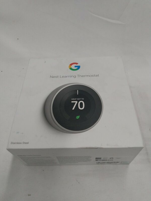 LS-7 Google T3007ES Nest 3rd Gen. Learning Thermostat - Stainless Steel (Used)