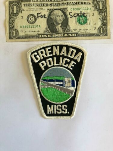 Grenada Mississippi Police Patch Un-sewn Great condition