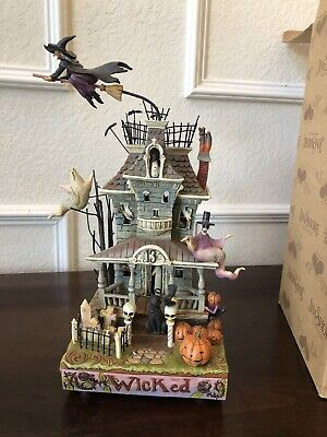 Jim Shore Deluxe Wicked Haunted House Lights Sound Retired 2008 #4010356
