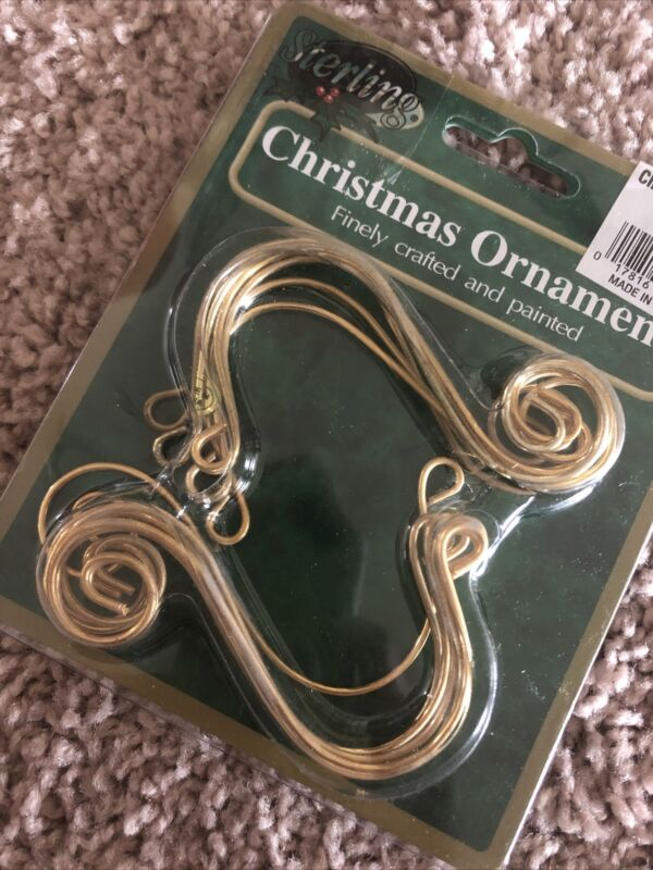 Sterling Decorative Gold Spiral S Shape Ornament Hooks Hangers Pack of 12