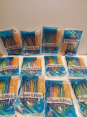 12 Packs Paper Mate Write Bros Mechanical Pencils 0.7mm Hb 2 Assorted Colors