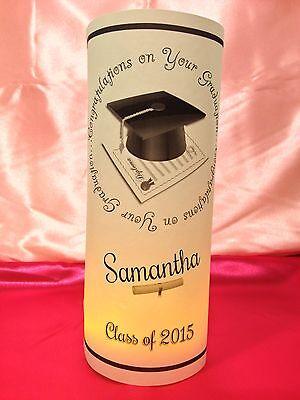 5 Personalized Graduation Luminaries Table Centerpieces Decorations Party - Class Reunion Centerpieces