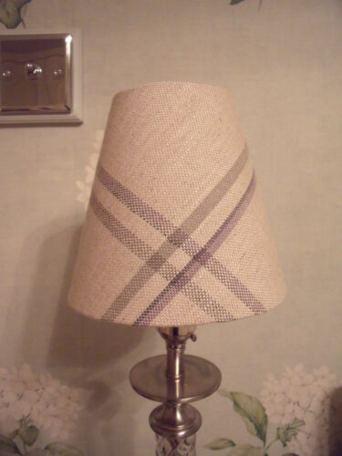 Handmade+Candle+Clip+Lampshade+Laura+Ashley+Corby+Check+fabric+all+colours