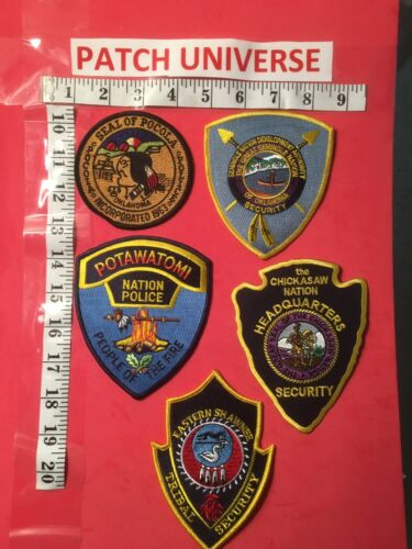 LOT OF 5 TRIBAL OKLAHOMA  SHOULDER PATCHES  J102