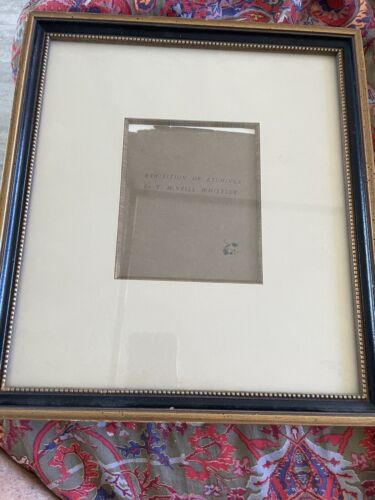 James McNeill Whistler With His Famous Butterfly Signature From A Book Porcel - $1,500.00