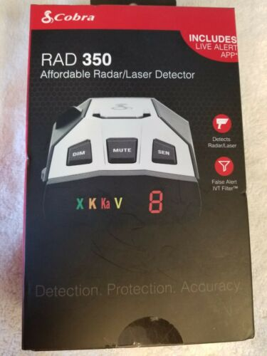 Brand New Sealed Cobra Electronics Rad 350 Radar and Laser Detector. FREE SHIP
