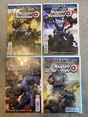 Steve Rogers Super Soldier Heroic Age 1-4