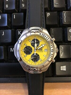 Citizen Miyota Movement Yellow Chronograph watch.