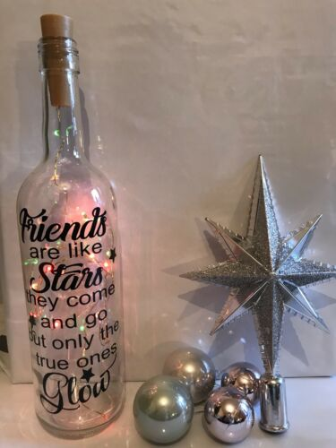 Home Decoration - Friends are Like Stars wine bottle Vinyl Decal, Sticker
