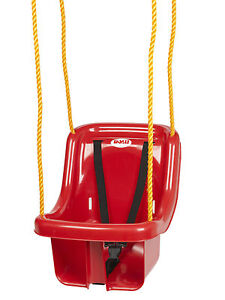 Children Outdoor Swing Seat With Safety Belt Rope & Mounting Rings Garden Toys