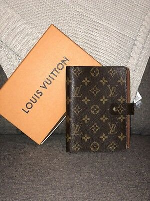 Authentic Louis Vuitton Monogram Ring Agenda MM Diary Cover ()