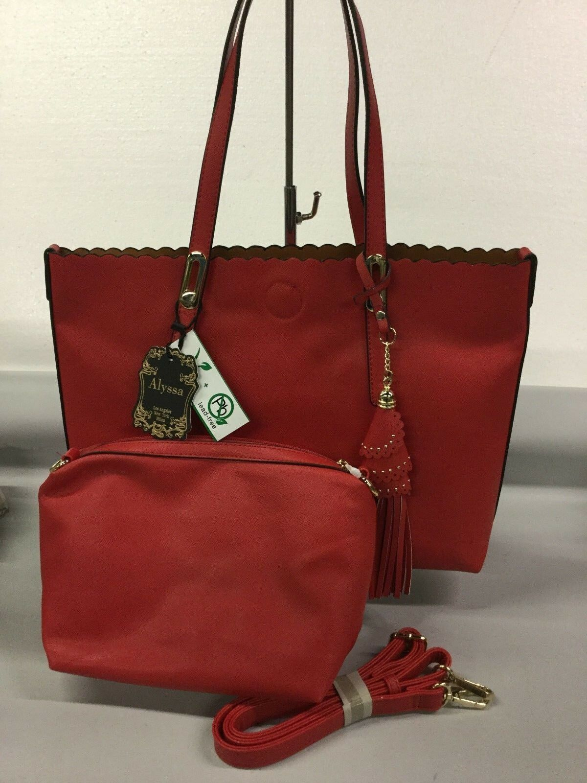 ALYSSA VEGAN LEAD FREE NWT HANDBAG AND TOTE PURSE #39
