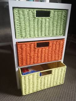 Rack cabinet with 3 drawers
