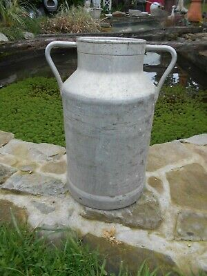 Vintage French aluminium milk churn stamped 3P