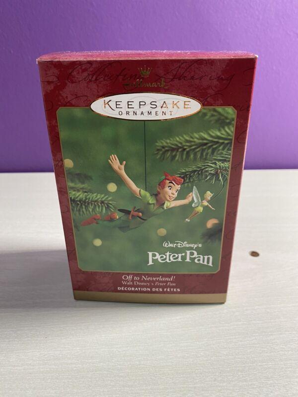 "Hallmark Keepsake Peter Pan ""Off to Neverland"" Tinker Bell Disney Ornament 2000"
