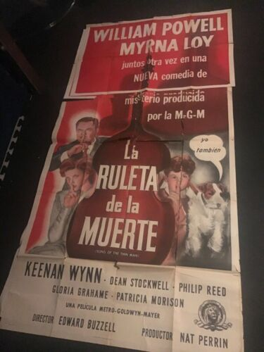 2 - William Powell Myrna Loy Thin Man Series The Roulette of Death huge 42x84