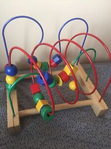IKEA bead roller coaster bead maze cube counting toy