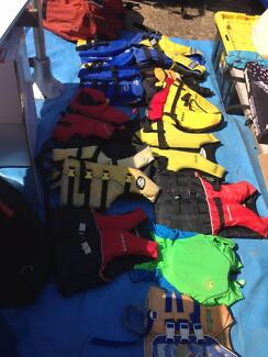 life jackets type two about 15 kids and adults