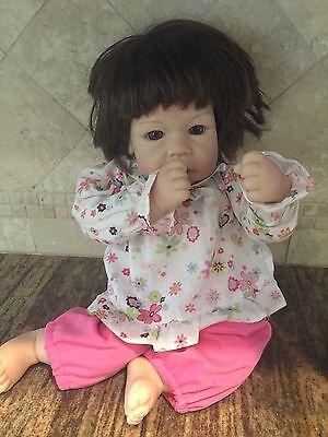 """Lee Middleton Reva 2002 Little Katherine Kate Baby 16"""" Doll Brunette"""