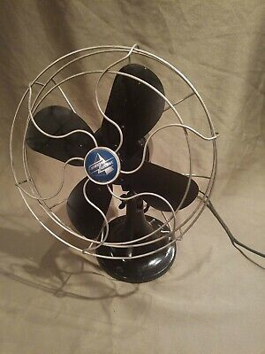 """Antique Emerson Electric 2450-H 115v 60 cycle .6amp 10"""" Blade Fan! Works great!"""