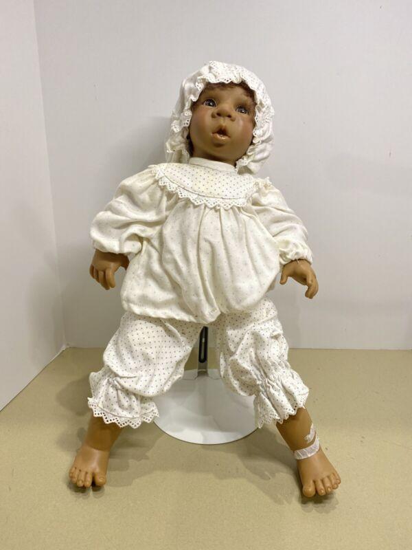 "Jeckle Jansen Artistic  ""JECKLE"". Boy Doll Vinyl Doll 16 1/2in"