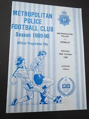 Metropolitan Police V Wembley  1989/0