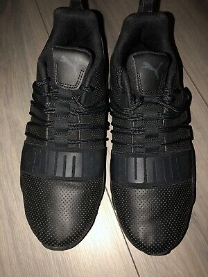black puma trainers size 8