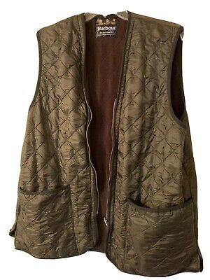 Barbour Polar Quilt Vest Full Zip Waist Coat Quilted Jacket Green Mens XL
