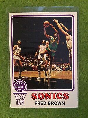 FRED BROWN ROOKIE BASKETBALL CARD 1973-74 Topps #103 ABA NBA RC Set Break SONICS for sale  Austin