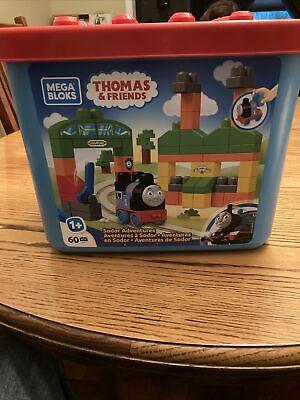 Mega Bloks Thomas & Friends Sodor Adventures 60pc Building Set Tub Storage