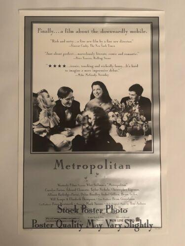 Metropolitan 1990 Original One Sheet Poster Westerly Films Archive Whit Stillman