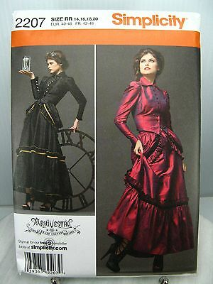 ARKIVESTRY Victorian Gothic Steampunk DRESS PATTERN Simplicity 2207 14 16 18 20
