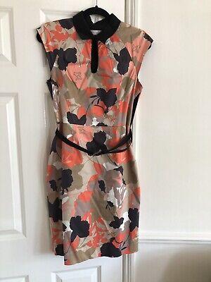 Jonathan Saunders Edition Fliral Print Dress Belted Used UK12