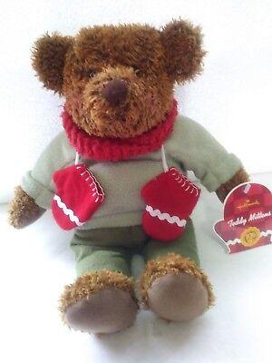 NEW Hallmark Teddy Mittens Bear Plush 100th Anniversary 2002 Stuffed Animal NWT